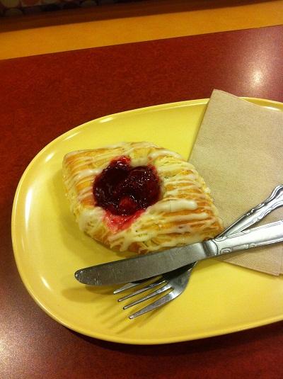 Panera Bread cherry danish.