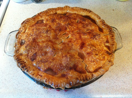 Homemade apple pie.