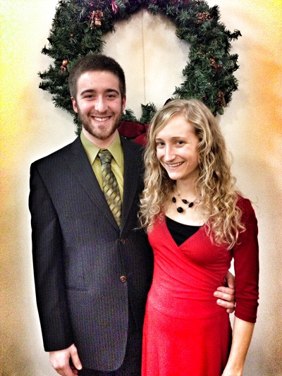 Jimmy and I after our church's Christmas Eve service. My little sister played piano, we sang, and Jimmy and I read a poem.