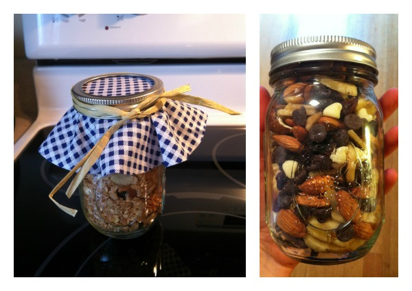 Homemade trail mix and coconut almond granola.