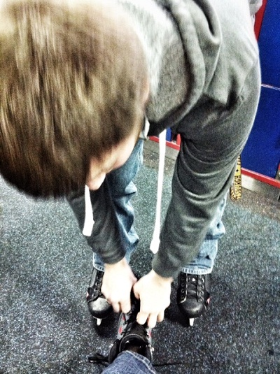 Jimmy even tied my skates for me. What a gem.