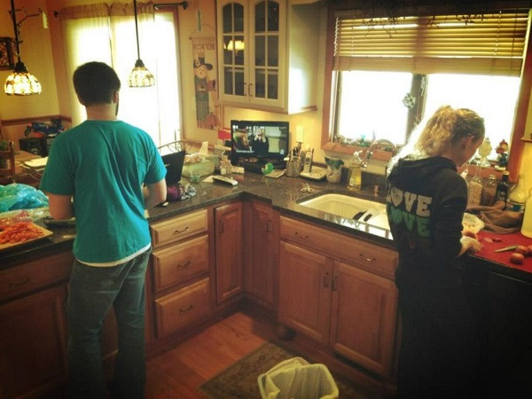 Cooking together :)
