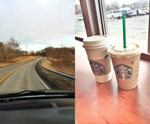 Not too busy to enjoy winding roads and Starbucks dates with Jimmy!