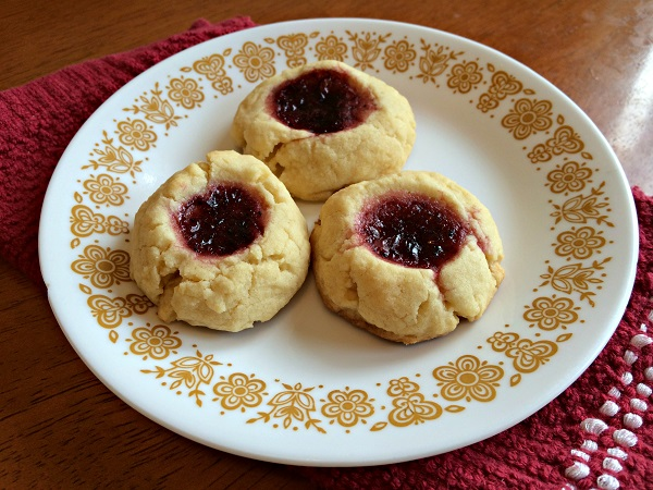 Blackberry Lemon Thumbprint Cookies