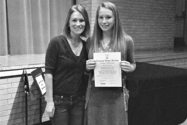 So proud of Hannah for getting inducted into the National Honor Society!