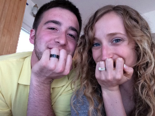 Jimmy said we should take a picture showing off our rings, haha.