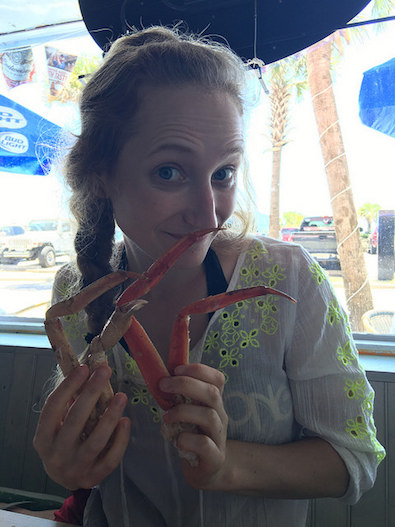 Crab legs at Fannie's on the Beach.
