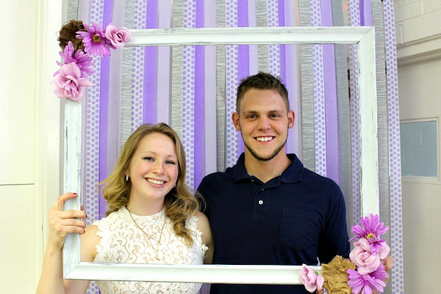 photo booth for wedding and bridal shower with frame