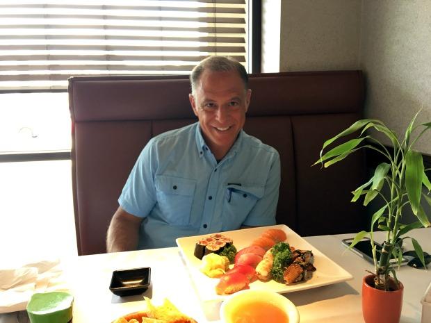 Sushi restaurant meal