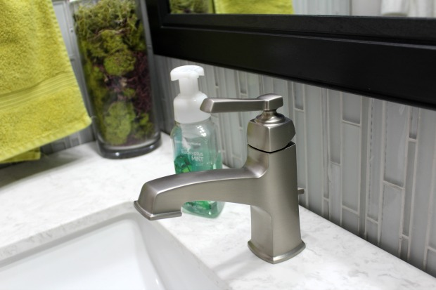 Stainless steel bathroom faucet