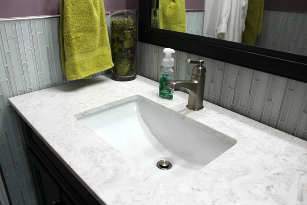 Marble bathroom counter