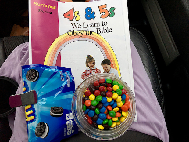 Candy and teaching materials
