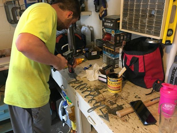 Working in garage