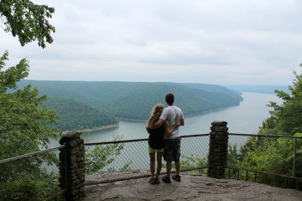 Jake's Rock hiking overlook at Kinzua