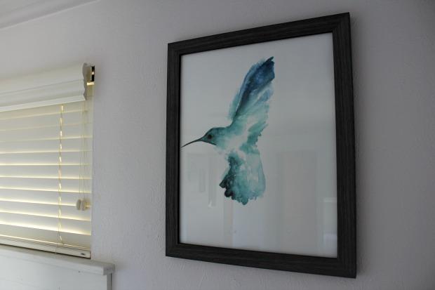 Hummingbird watercolor artwork print