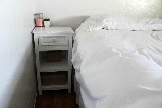 Small white nightstand