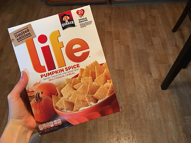 Pumpkin Spice Life Cereal limited edition