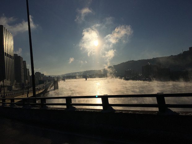 Pittsburgh in the morning in January