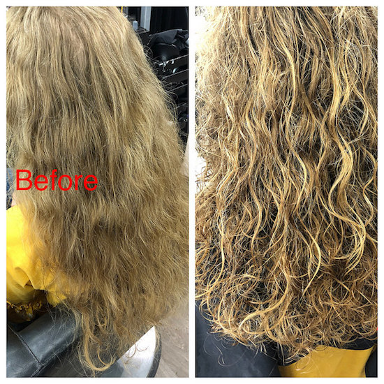 Curly hair Deva hair cut before and after