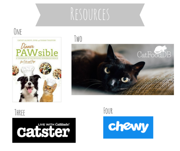 Cat food and feeding resources, books, and websites