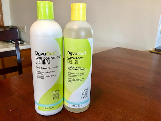 DevaCurl shampoo and conditioner