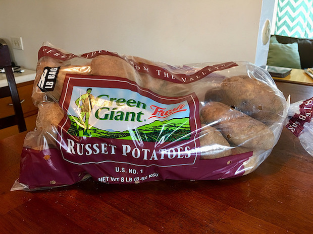 Eight pound bag of Green Giant Russet Potatoes