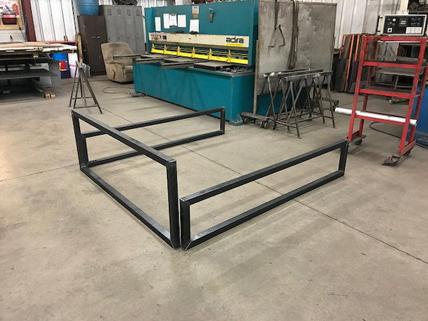 Steel bed frame