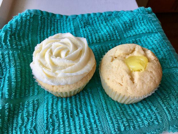 Lemon cupcake with lemon filling and lemon buttercream for wedding