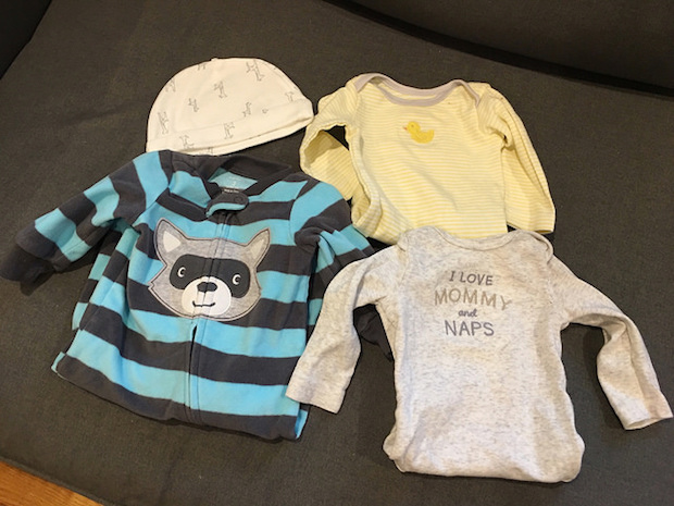 Baby clothes and hat