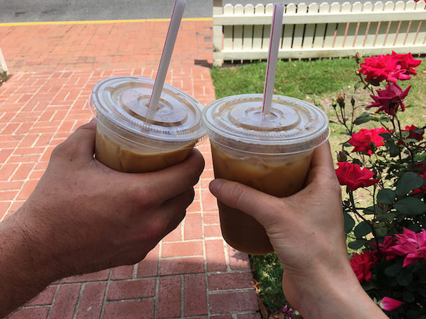 Iced coffee from Island Perk in Manteo Outer Banks