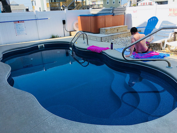Pool and hot tub at beach rental house in Kitty Hawk North Carolina Outer Banks by Joe Lamb Jr.