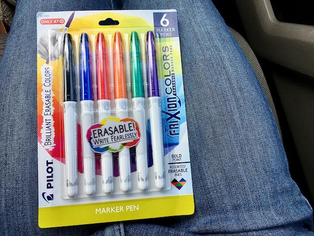 Pilot Frixion erasable marker pens