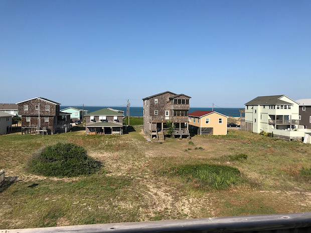 View of ocean from beach rental house in Kitty Hawk with Joe Lamb Jr.