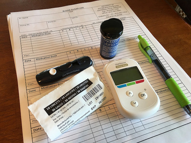 Blood suagr testing for gestational diabetes
