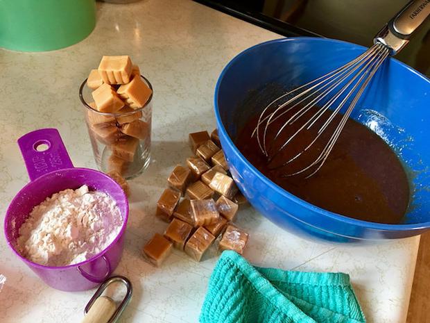 Smitten Kitchen salted caramel brownie ingredients