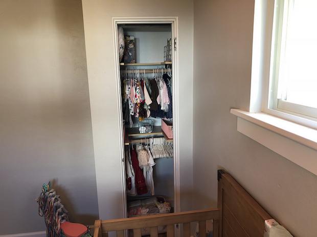Baby girl nursery closet