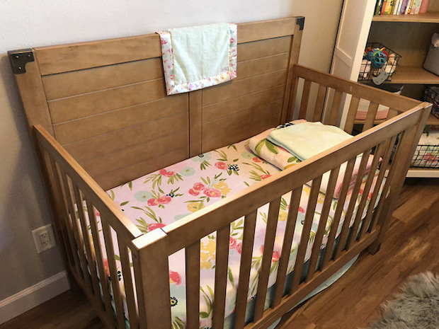Baby girl crib and bedding from Target