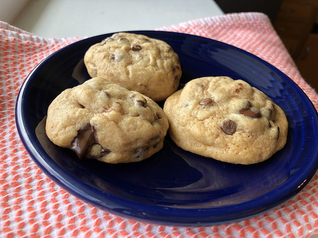 Malted milk chocolate chip cookies