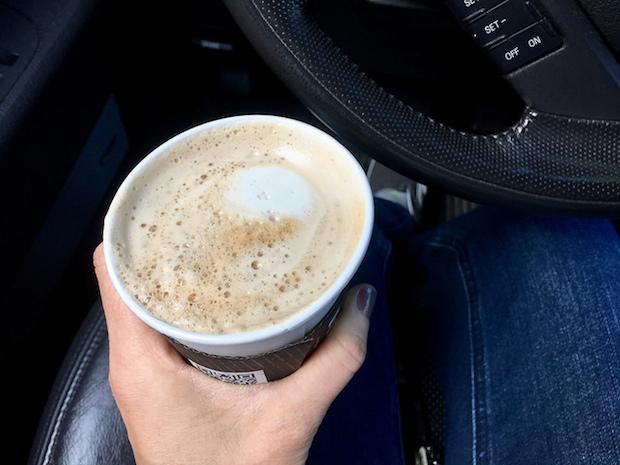 Starbucks vanilla latte with foam