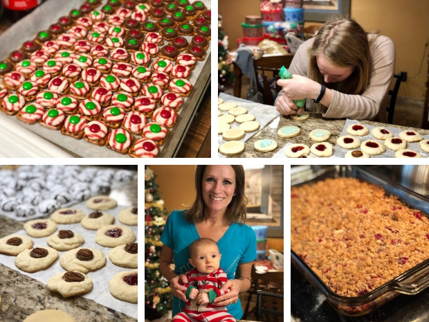 Christmas cookie baking