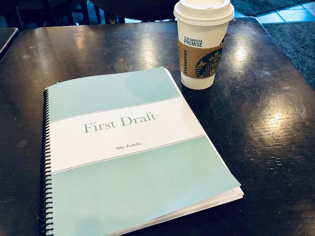 Book editing at Starbucks