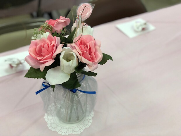 Baby girl baby shower decorations centerpiece