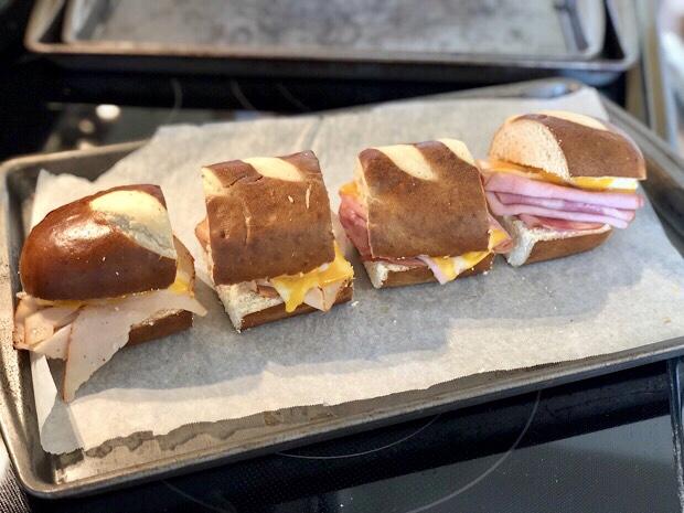 Pretzel freezer sandwich
