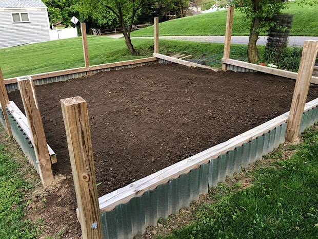 Vegetable garden plot after tilling