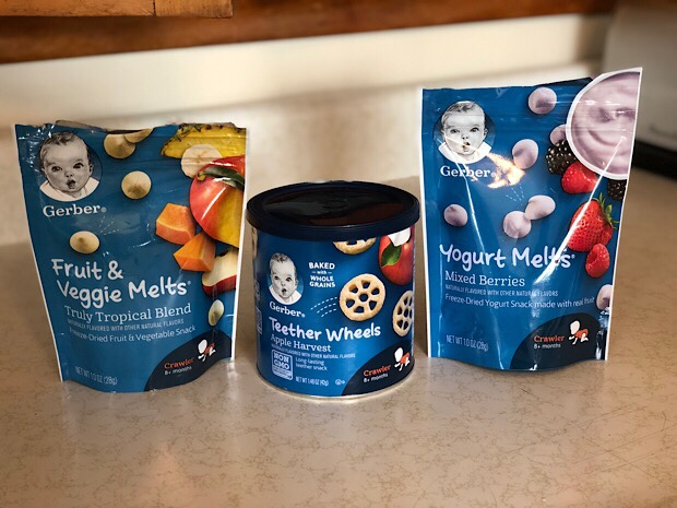 Gerber Yogurt Melts and Teether Wheels