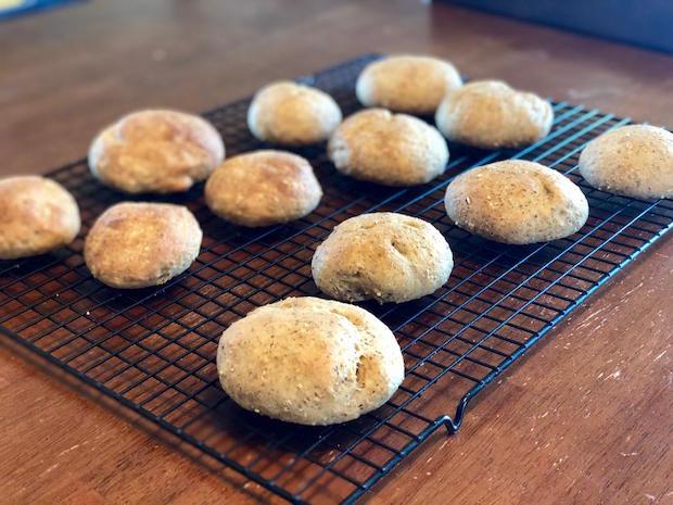 Nine grain dinner rolls
