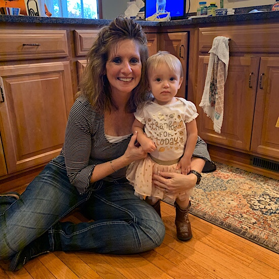 Toddler and grandma on Thanksgiving