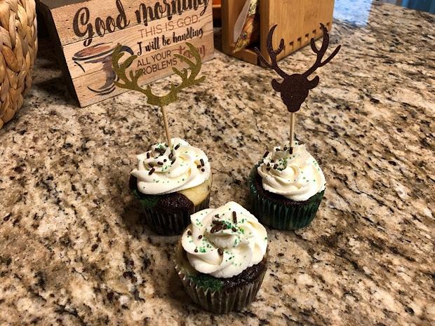 Camo hunting cupcakes
