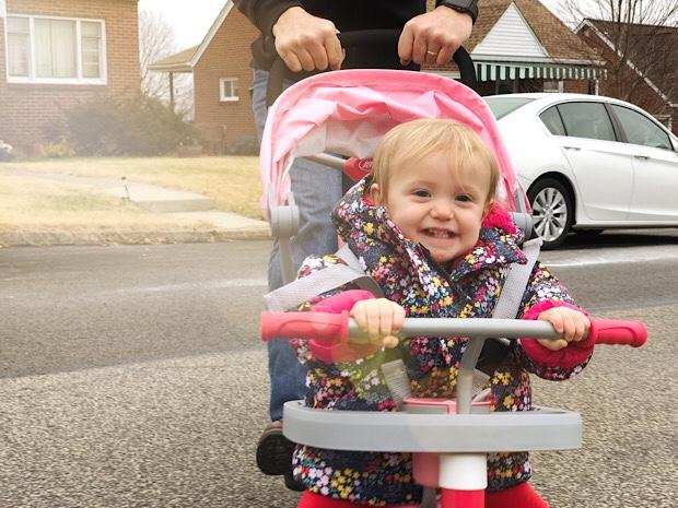 Baby riding trike