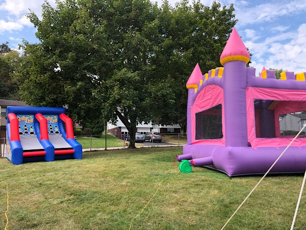 Bounce house and skee ball